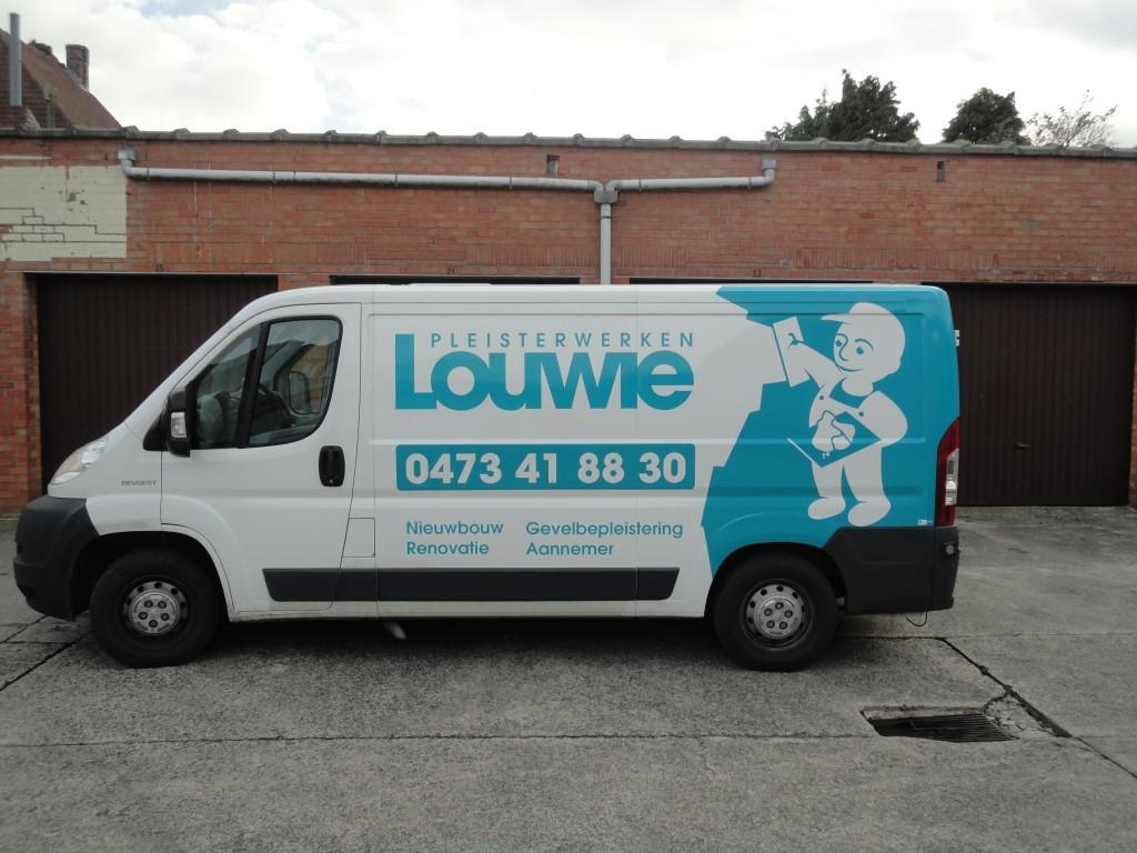 Belettering wagen – Louwie