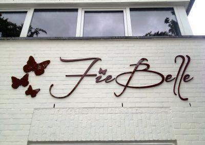 3D letters Fie Belle