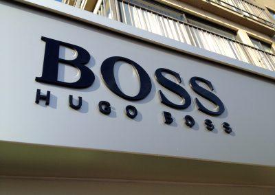 3D letters Hugo Boss 1