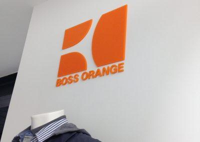 3D letters Hugo Boss 2