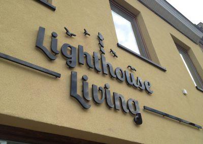 3D letters lighthouse living