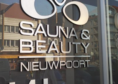 3D letters sauna en beauty