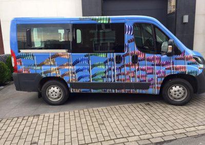 Belettering voertuig busje 1