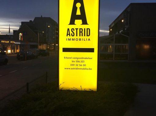 Lichtreclame – Astrid immobilia