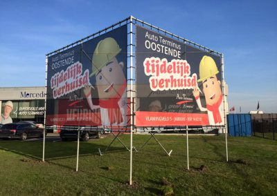 Quicksign Reclamepanelen auto terminus