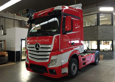 Wagenbelettering truck