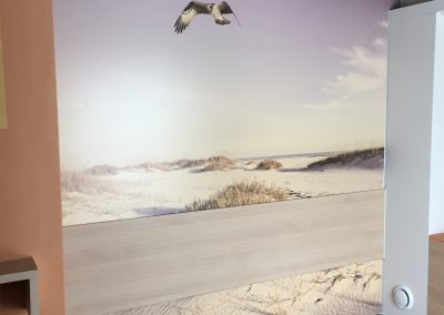 Muurprint duinen