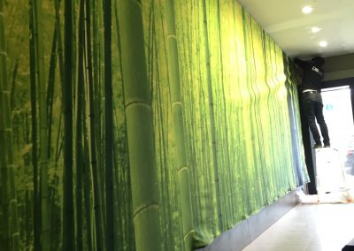 Muurprint groen