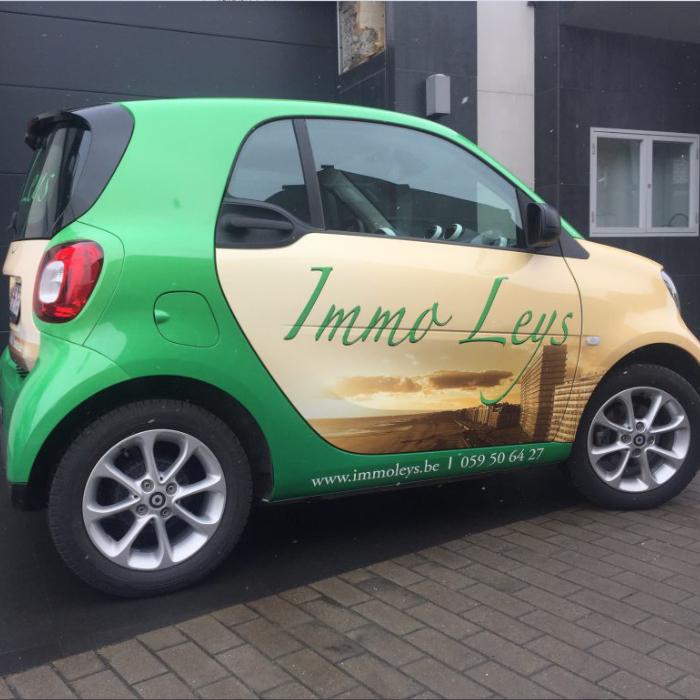 Quicksign voertuigreclame belettering personenwagen