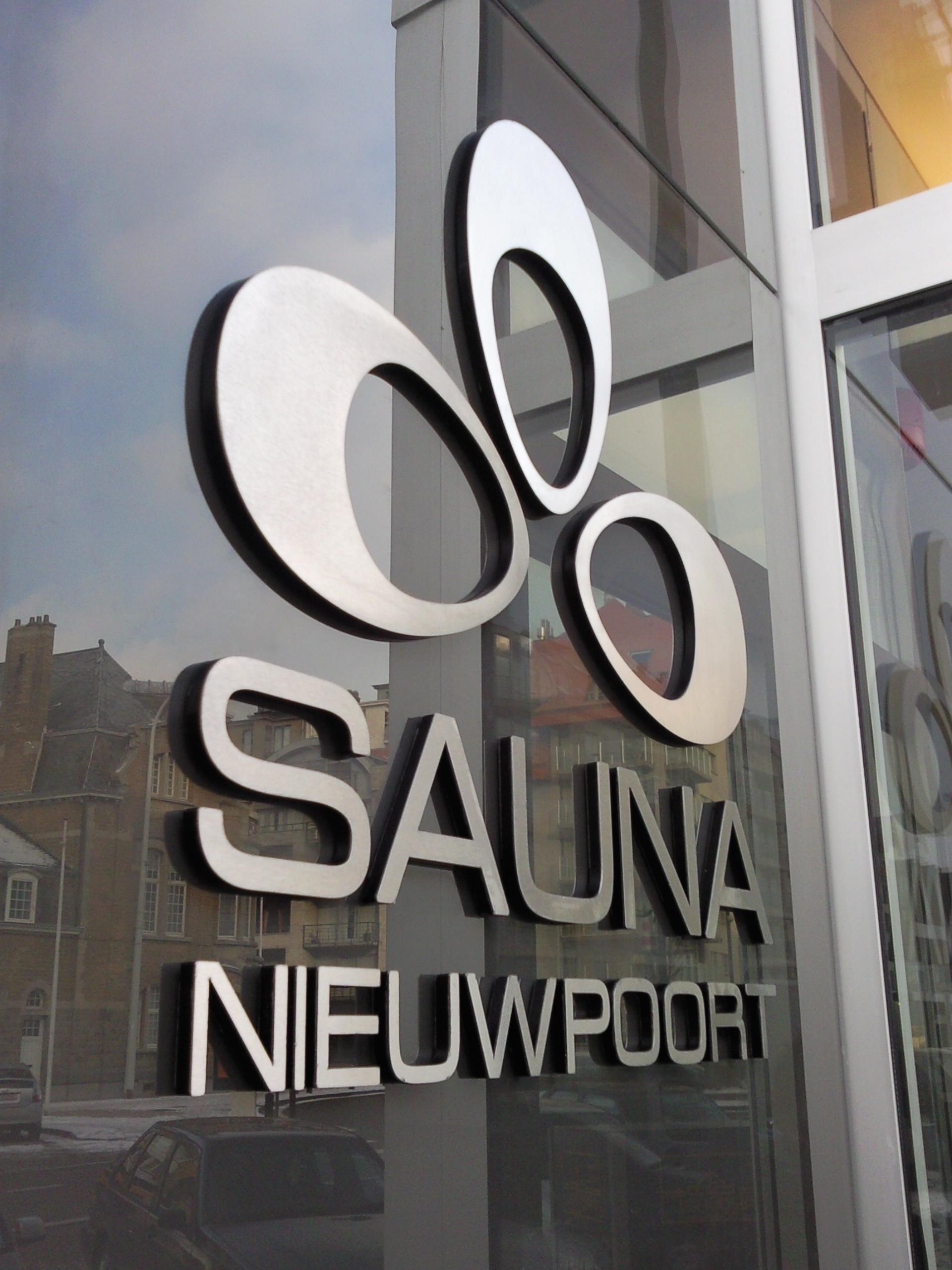 3D letters – Sauna Nieuwpoort