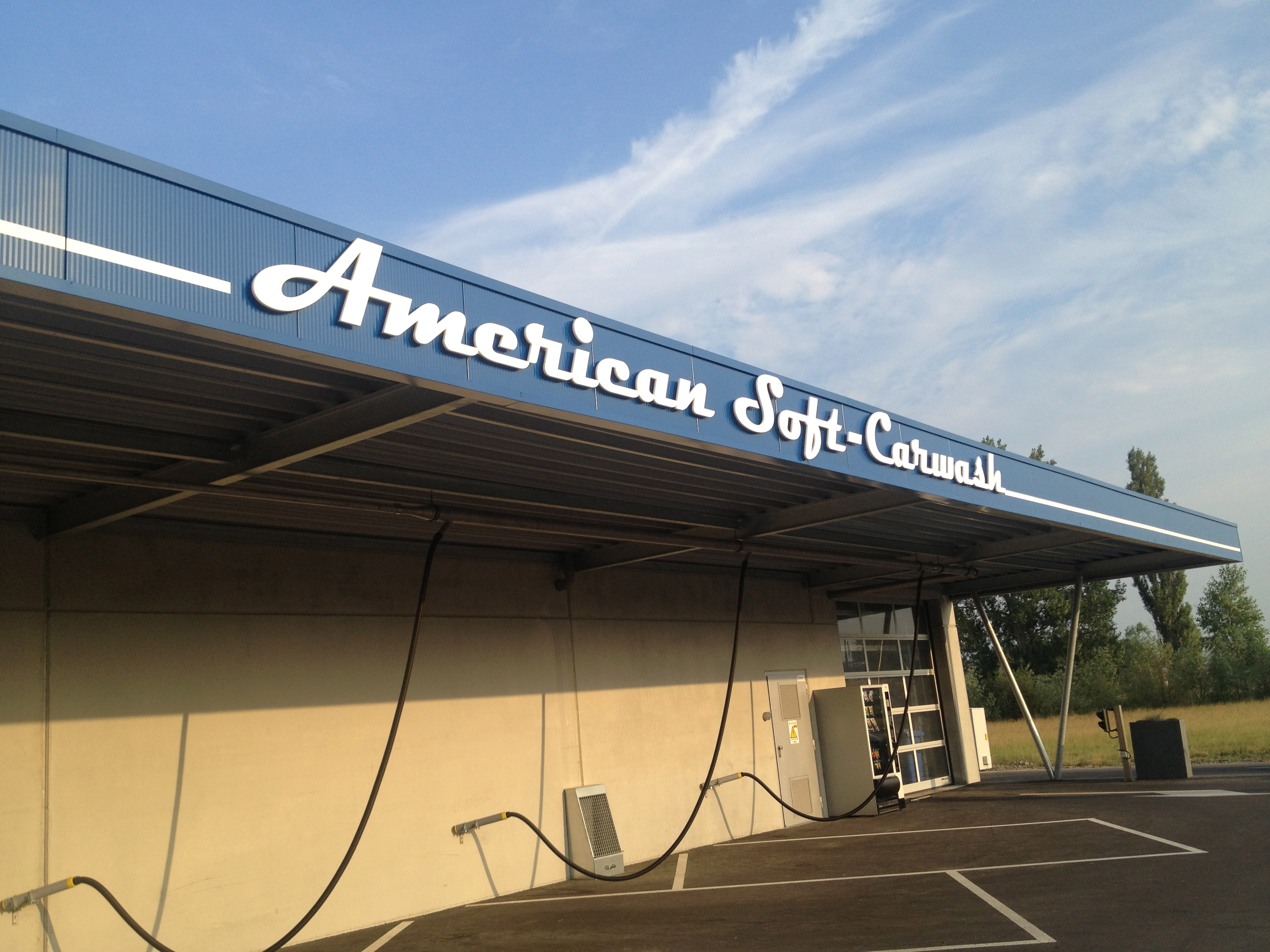 3D letters Amercian soft carwash