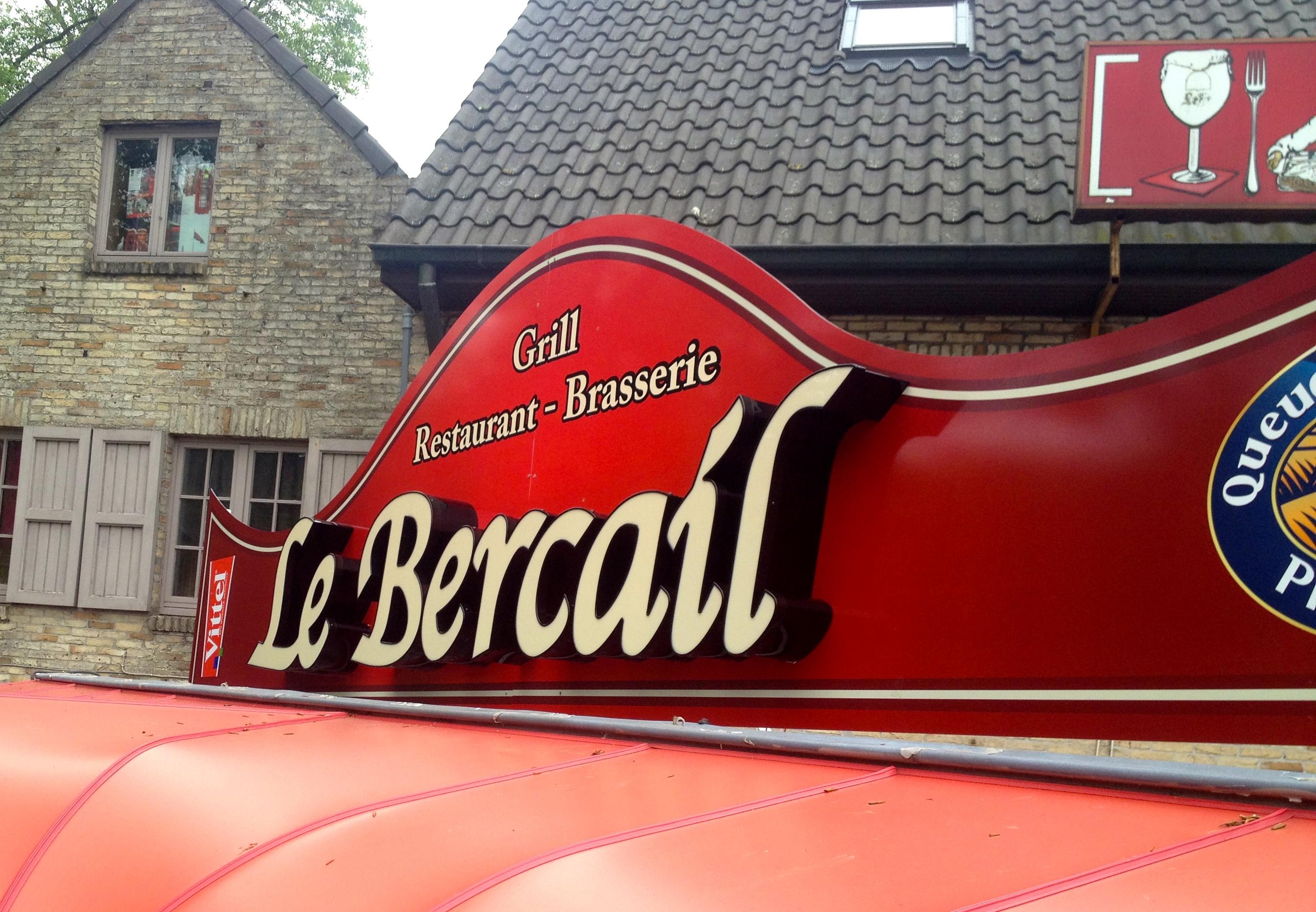3D letters Le Bercail