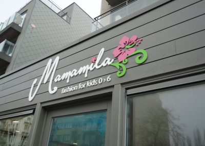 3D letters Mamamila