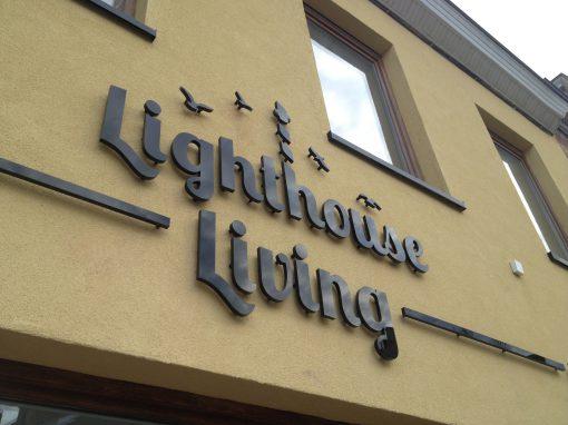 3D letters – Lighthouse living