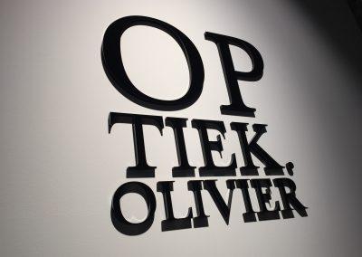 3D letters optiek olivier