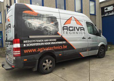 Wagenbelettering Agiva