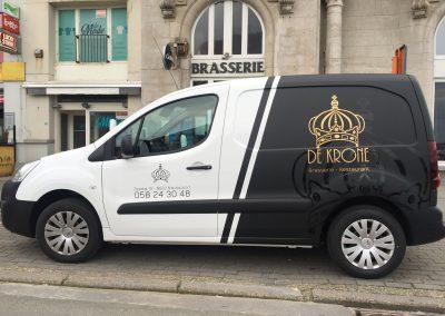 Wagenbelettering De Kroone