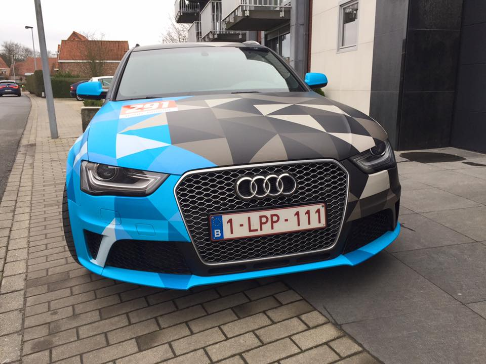 carwrapping audi RS4 8