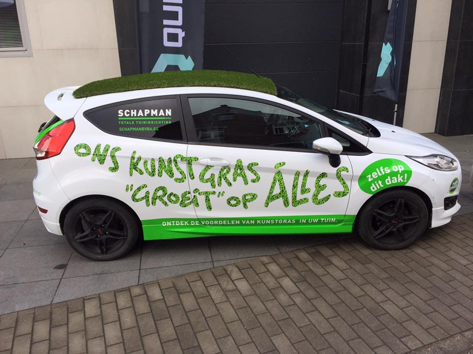 Quicksign carwrapping kunstgras