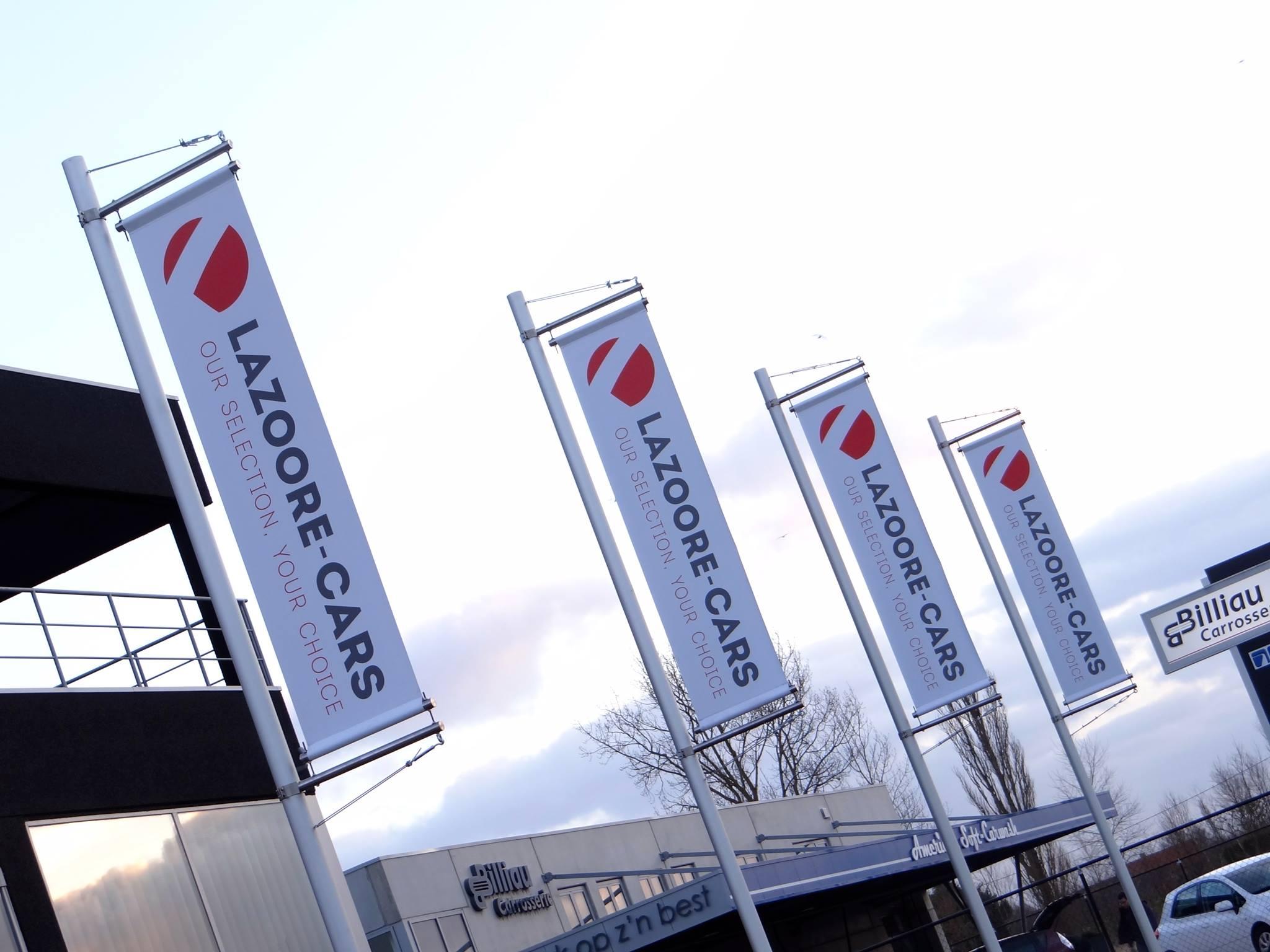 Quicksign vlaggen Lazoore cars